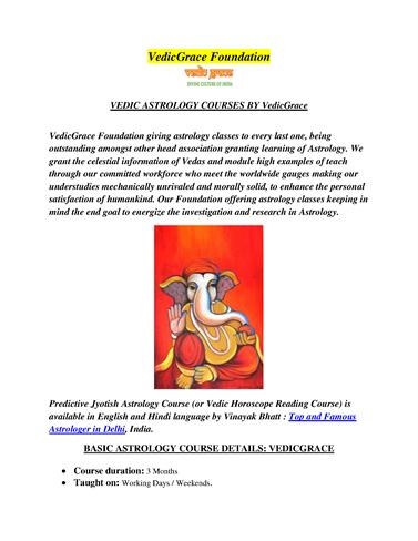 VEDIC ASTROLOGY COURSES by Vedicgrace |authorSTREAM