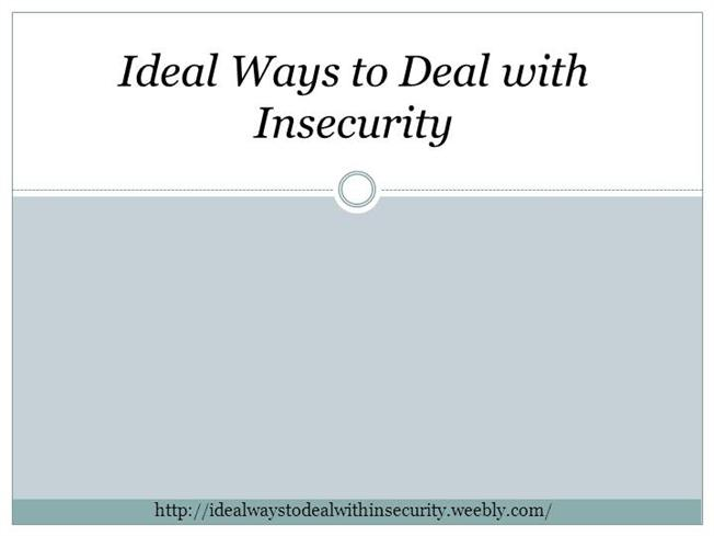 how to deal with insecurities