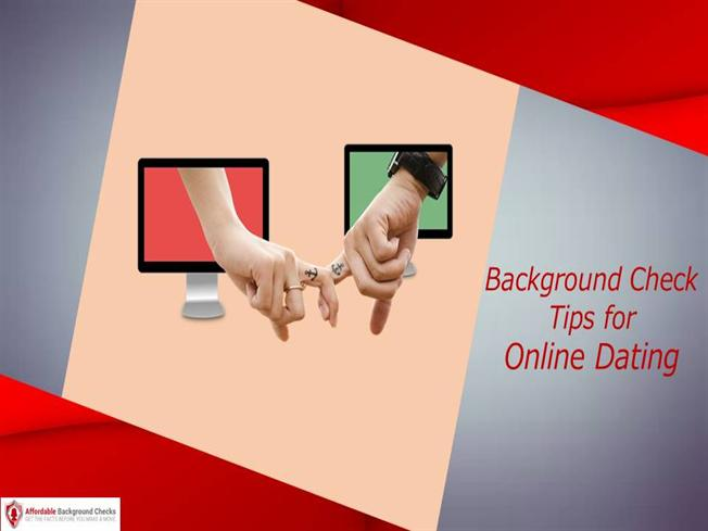 How to do online dating background check