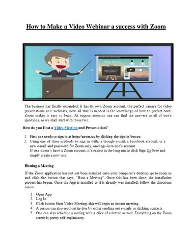 How to Make a Video Webinar a Success With Zoom |authorSTREAM