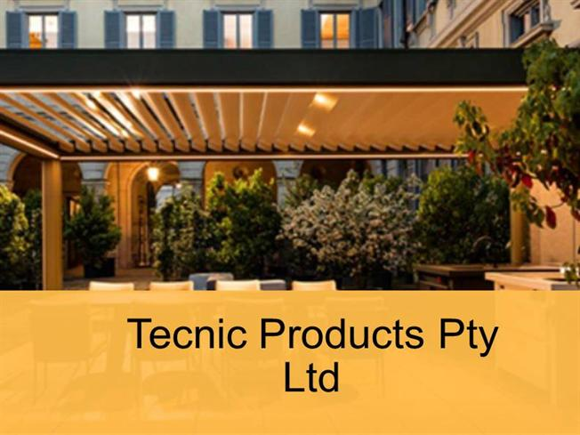 Waterproof Awnings by Tecnic Products Pty Ltd |authorSTREAM