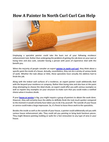 How a Painter in North Curl Curl Can Help |authorSTREAM