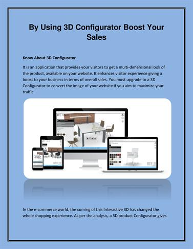 By Using 3D Configurator Boost Your Sales |authorSTREAM
