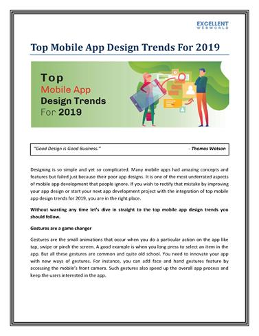 Hottest Design Trends In Mobile Apps For 2019 Converted Authorstream