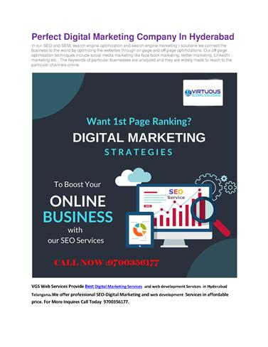 Top Digital Marketing Company In Hyderabad Vgs Web Services Authorstream