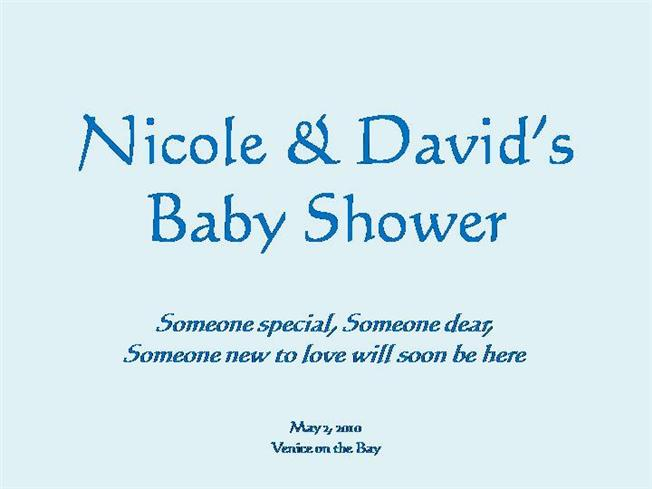 baby shower slideshow powerpoint