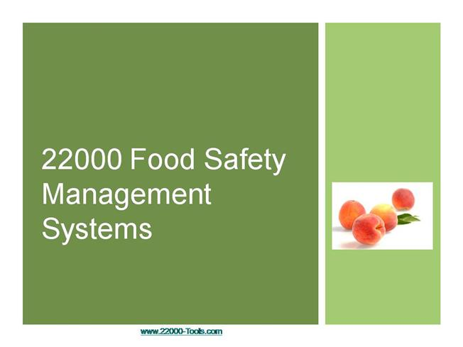 food safety powerpoint template - introduction to iso and fs 22000 authorstream