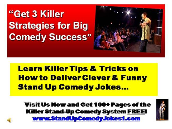 stand up comedy tips writing a novel