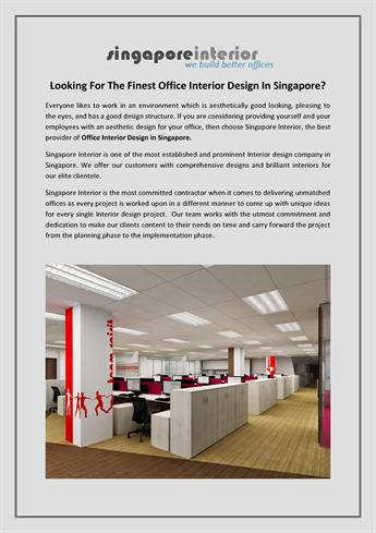 Looking For The Finest Office Interior Design In Singapore Authorstream