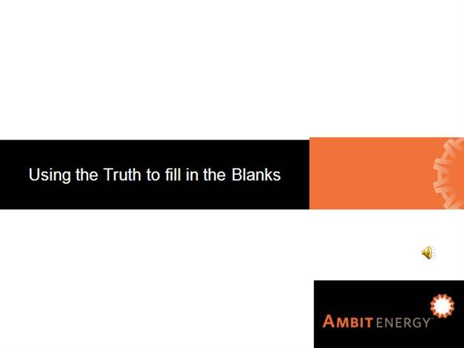 The truth about the ambit energy opportunity authorstream for Ambit energy business card template