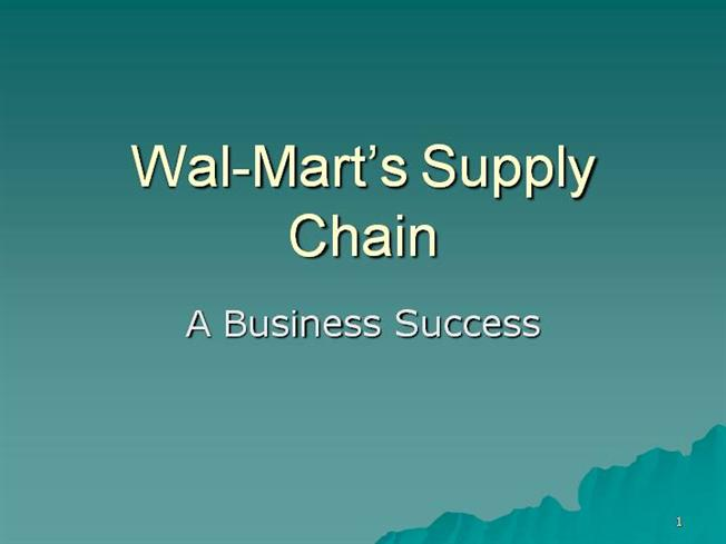 walmart powerpoint template - 2 wal mart supply chain authorstream