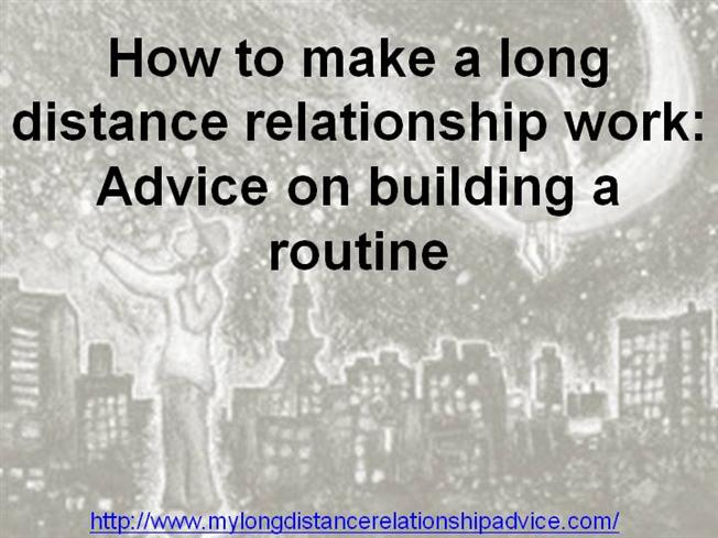 how to prove a long distance relationship will work