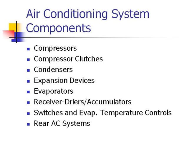 Air Conditioning System Components Authorstream