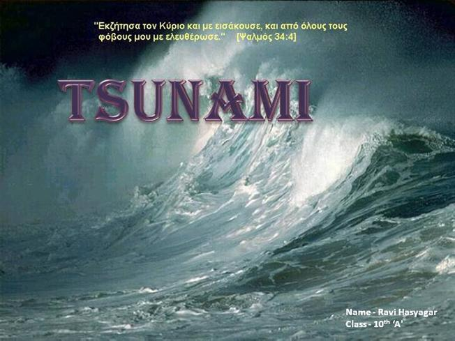 Introduction to the Tsunamis