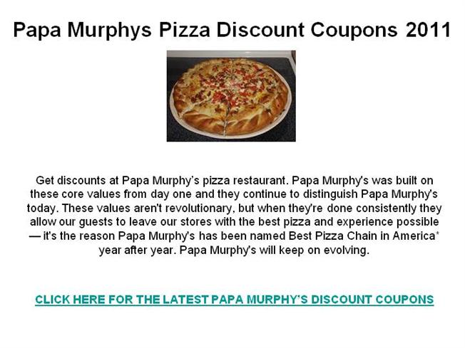 image regarding Papa Murphy's Printable Coupon titled Papa murphys coupon card fundraiser / Discount codes dictionary