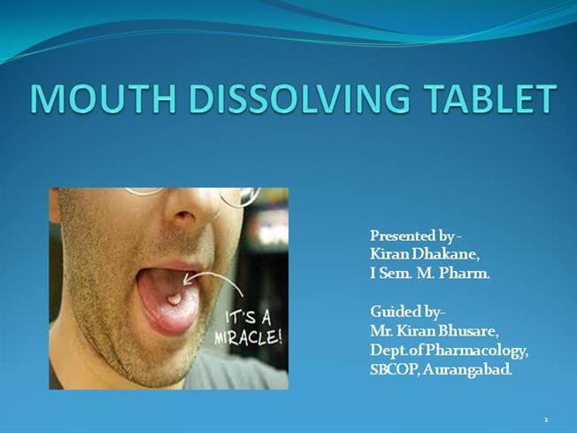 Dissertation oral tablets mouth
