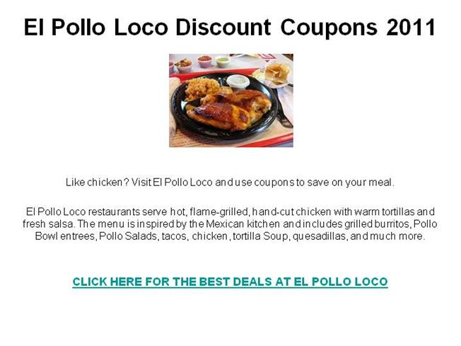 image relating to El Pollo Loco Coupons Printable known as El pollo loco discount coupons 2018 april : I9 sporting activities coupon