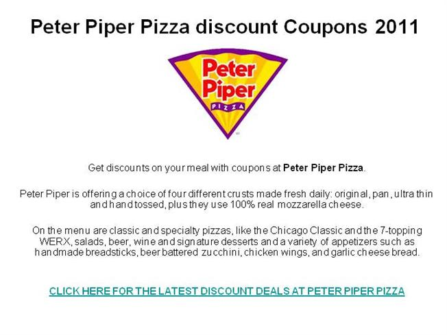 Peter piper pizza printable coupons 2018 : Canopy parking