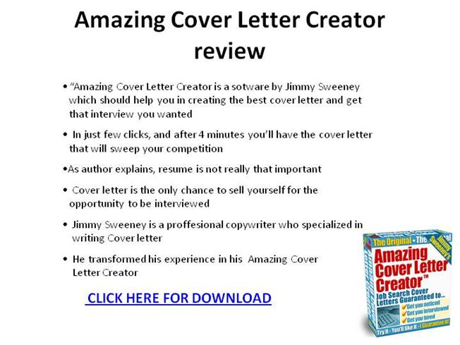 cover letter creator amazing cover letter creator review ppt presentation 21006