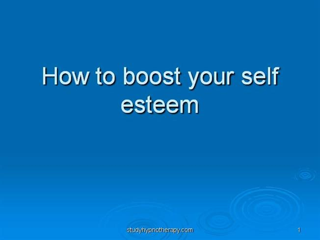 self esteem powerpoint templates - how to boost your self esteem authorstream
