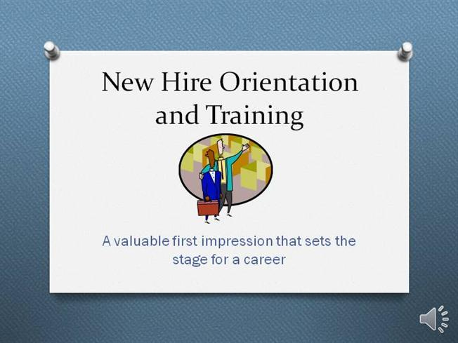 New hire orientation and training authorstream for New employee orientation template powerpoint