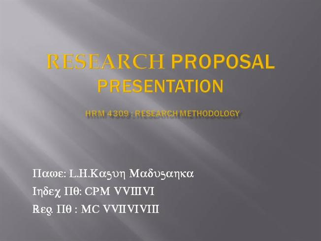 Presentation slides for research paper