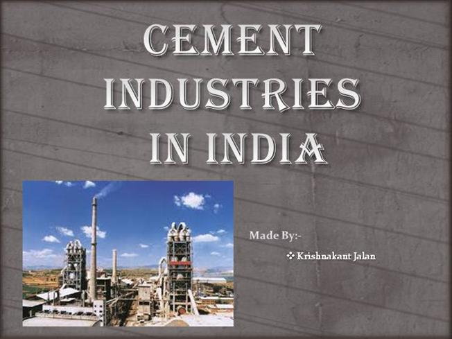 Cement indiustry india